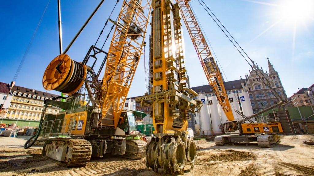Liebherr slurry wall cutter takes on Munich's largest construction project