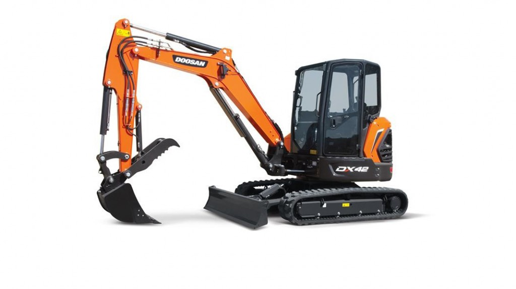 Doosan's updated mini excavators feature enhanced performance and productivity