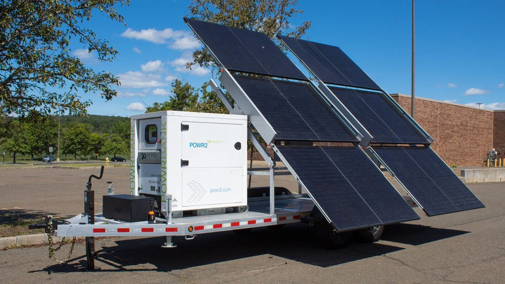 POWR2 makes solar power mobile with new solar trailer