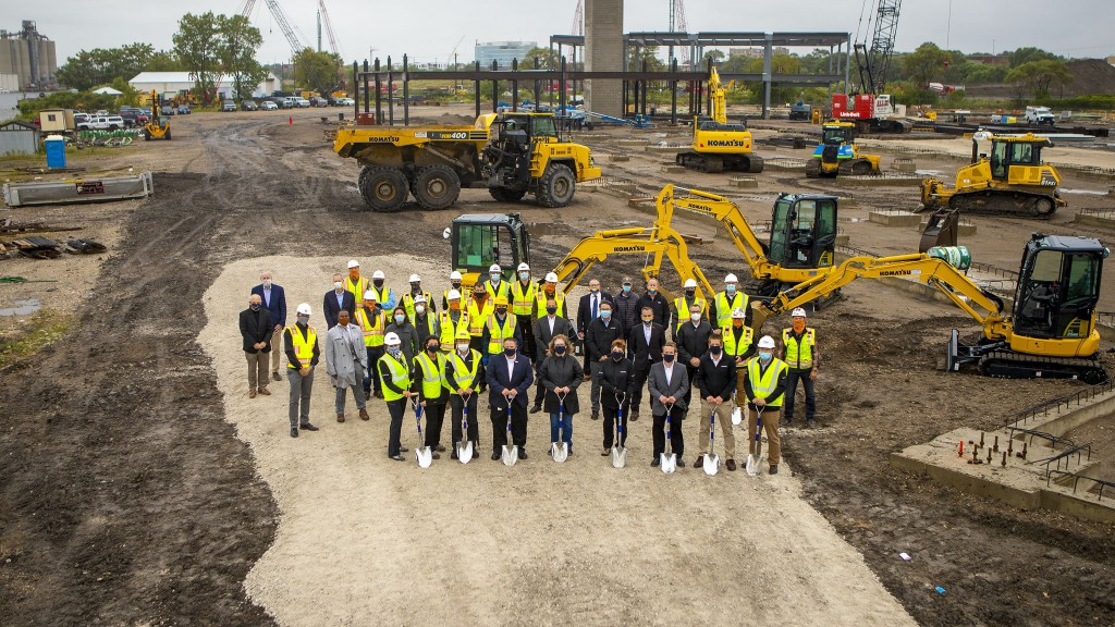 Komatsu begins construction of new headquarters and manufacturing campus in Milwaukee