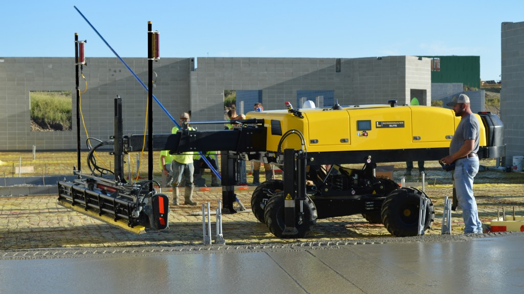 Ligchine introduces new laser-guided concrete screed machine