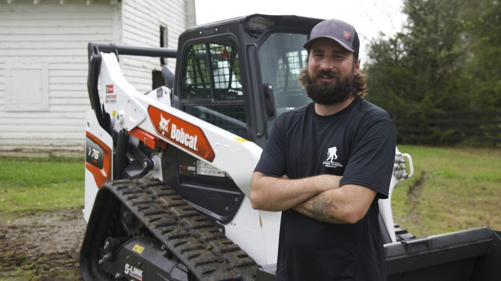 Doosan Bobcat and Wounded Warrior Project present U.S. Army veteran with new compact track loader