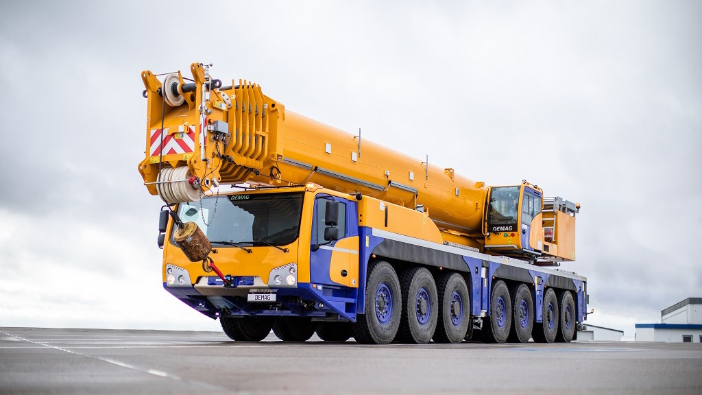 Seven-axle crane from Demag offers more power in a compact size