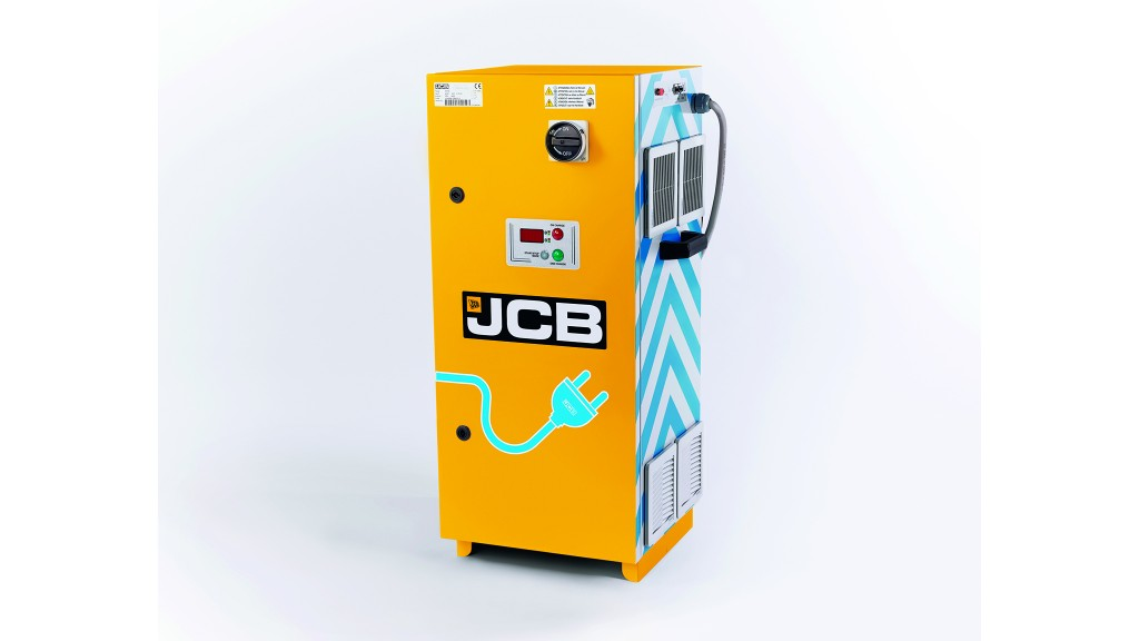 JCB Universal Charger for electric construction equipment delivers rapid charge