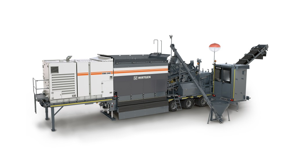Wirtgen's new cold recycling mixing plant brings sustainable recycling close to the job site