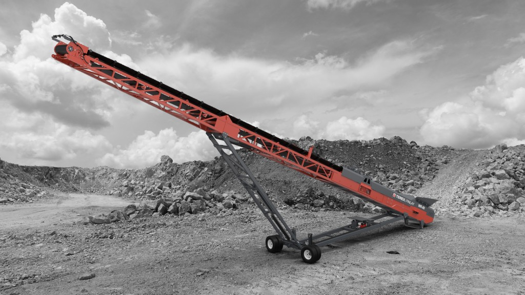 Terex Finlay launches new wheeled radial stockpiling conveyor