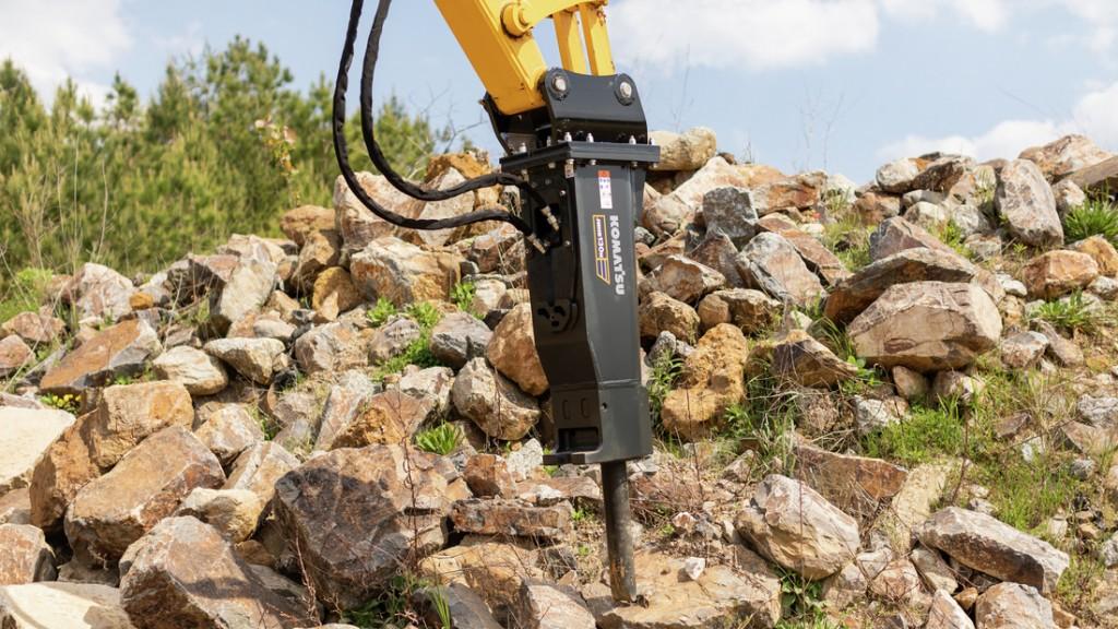 Komatsu introduces expanded range of hydraulic breakers