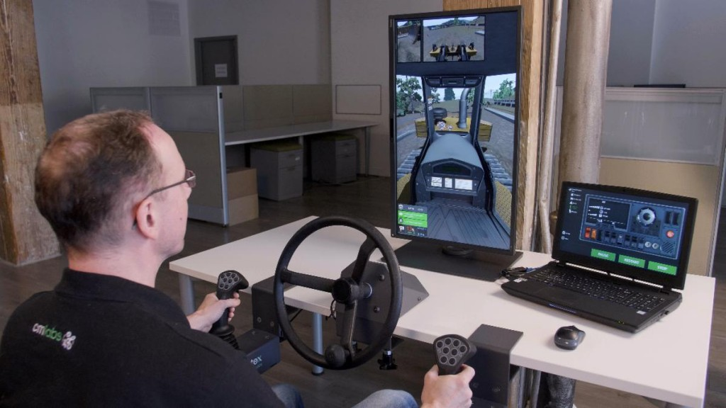 CM Labs' portable desktop simulator makes heavy equipment training accessible everywhere