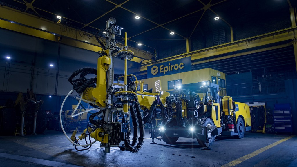 Epiroc's Boltec M Battery rig makes its debut in Canada