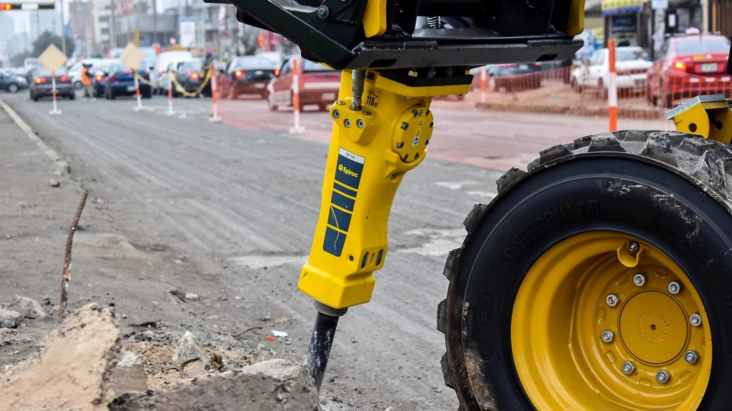 Hammer and breaker attachments for skid-steer loaders
