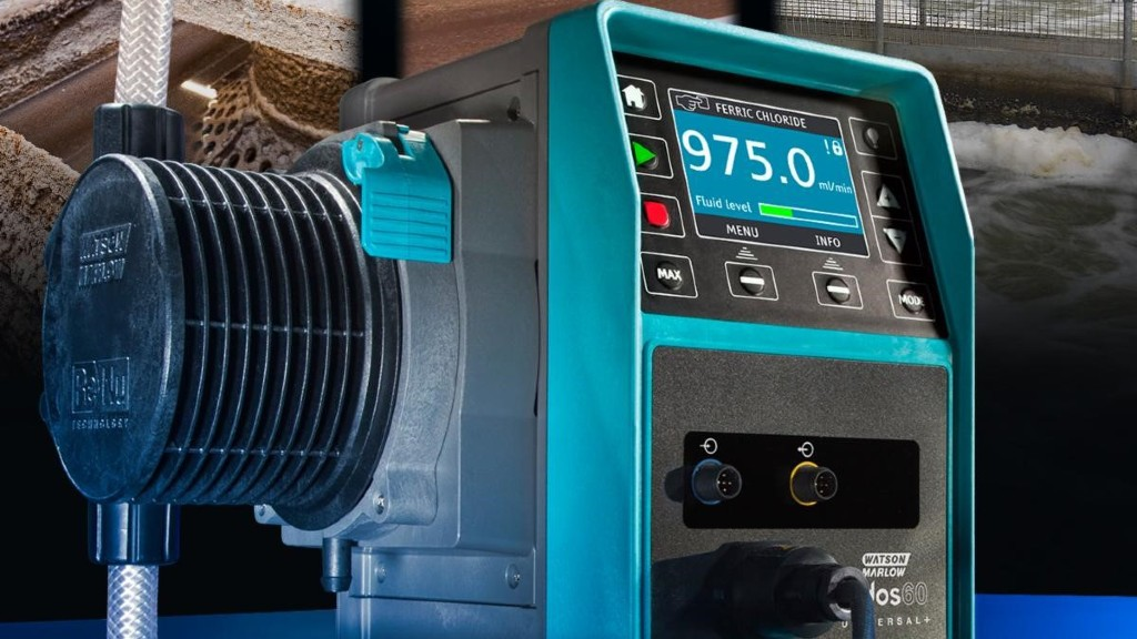 Chemical metering pumps fom Watson-Marlow feature four configurable outputs