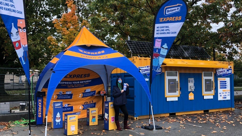 Return-It Express & GO station brings new, convenient way to recycle on University of B.C. campus