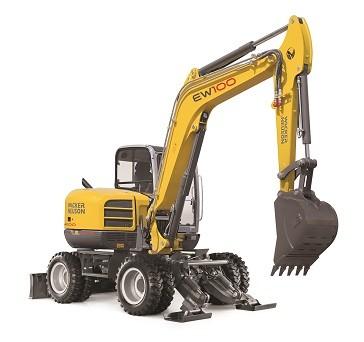 Wacker Neuson's largest wheeled excavator EW 100