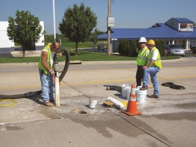 Core drill attachment for vacuum excavators