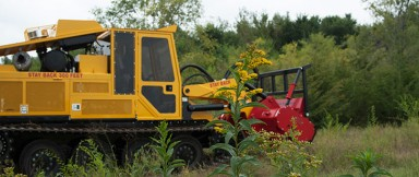 Low Ground Pressure Brush Cutter Tractor