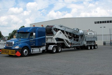 Mobile Twin Shaft Mixer