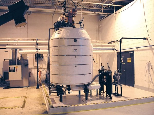 InfiChem's mix tank is used in a process that converts polyurethane scrap foam into green polyols that are then used in polyurethane production and  applications.