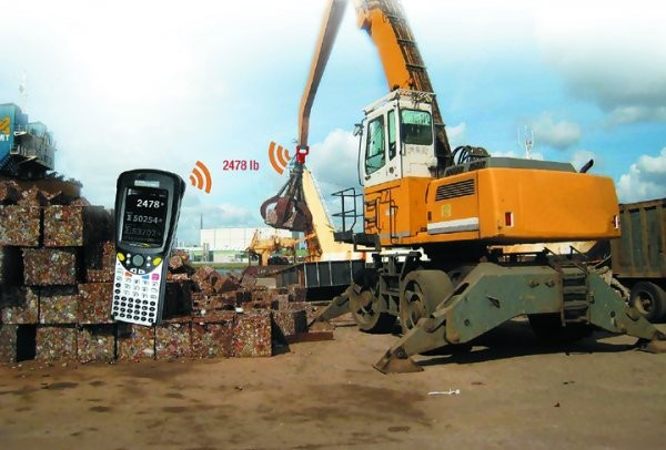 Wireless grapple scale allows scrap operations to add in-motion weigh capacity