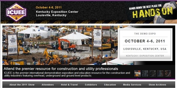 ICUEE features hands-on demonstrations of construction and utility equipment