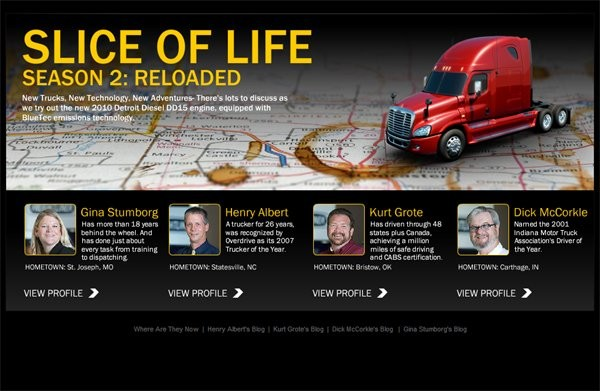 "Freightliner Trucks ""Slice of Life"" Drivers Realizing Significant Fuel Efficiencies"