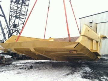 Truck bodies engineered for rough oil sands conditions