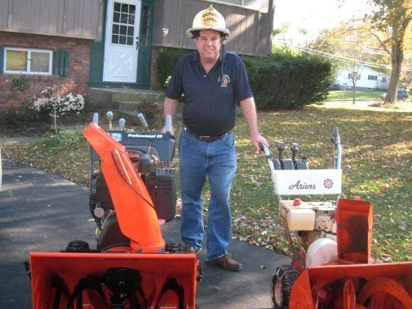 A new Professional 28 Sno-Thro model donated to retired FDNY Chief Richard Picciotto, February 2012.