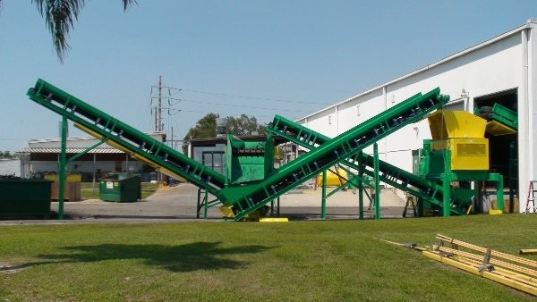 CM Primary shredder and external classification system  increases efficiency for National Rubber Technologies