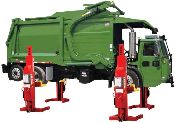 The advantages of using heavy-duty vehicle lifts in refuse and recycling maintenance