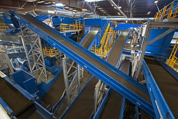 Republic's Newby Island MRF, built by Bulk Handling Systems, is designed to recover 80% of San José's commercial waste