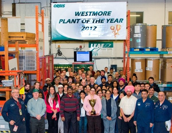 ORBIS names its Rexdale facility plant of the year