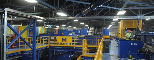 Machinex manufactures equipment for largest residential single stream recycling centre in North America