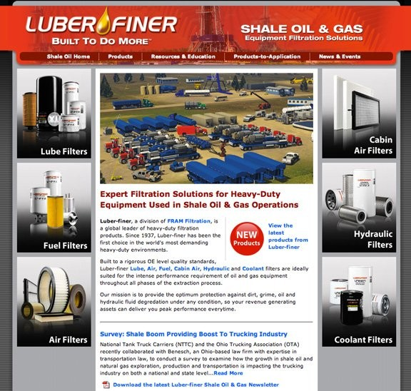 FRAM Filtration launches Luber-finer website dedicated to filtration solutions for shale oil & gas industry