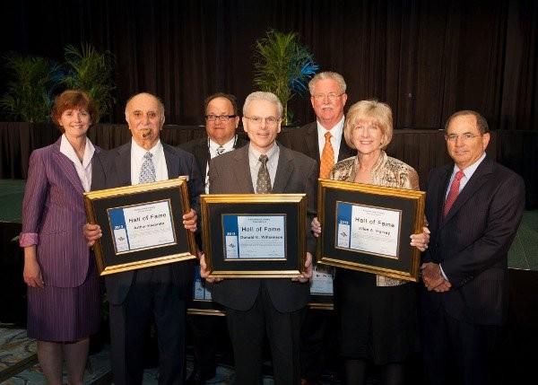 From left: Sharon Kneiss, Arthur Kazarian, Gary Hater, Don Williamson, Bill Wilkerson, Ellen Harvey, and Charlie Appleby