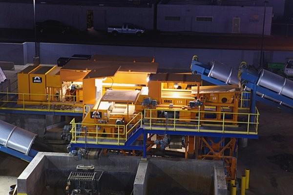 Eriez at night, at Liberty Iron & Metal's Phoenix operation