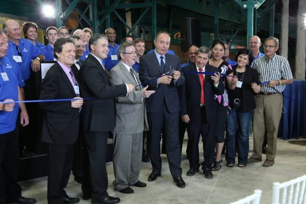 Cutting the ribbon, June 25th, at Progressive Waste Solutions' new high-tech facility in Vaughan, Ontario