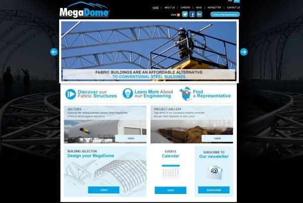 MegaDome announces new Website