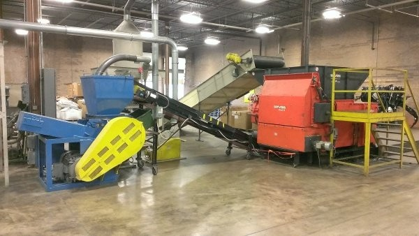 Recycler increases capacity with shredder-granulator pairing