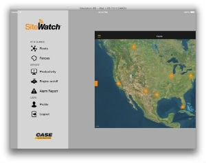 New CASE SiteWatch iPad App Optimizes Access to Equipment Data for Monitoring in the Field and Away from the Office