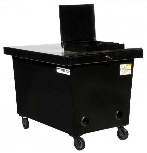 Wastequip's new line of grease containers feature the Grease Vault lid, and are designed to provide safe, simple storage of used food grease, while discouraging the most pesky grease burglar around.