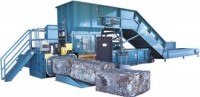 Two-ram scrap baler