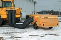 MAXI-HEAT KEEPS WORKERS AND EQUIPMENT WARM