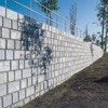 Large modular retaining wall system