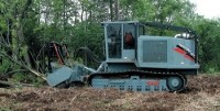Mulcher features Cat engines and hydrostatic drive