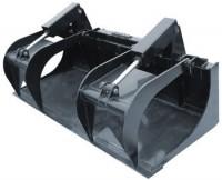 Grapple bucket combines features for efficiency