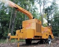 Drum-style brush chipper runs all day without refuelling