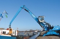 Latest material handler features advances to slewing, hydraulics and cab