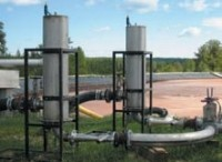 Water treatment systems diffuse gases into liquids