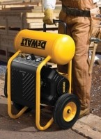 Electric-wheeled portable compressors