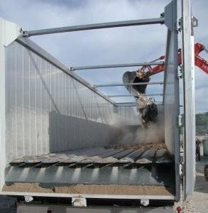 V-9 trailer unloading system