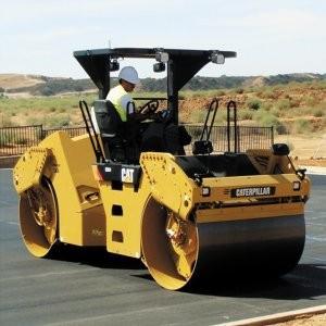 Three asphalt compactors from Caterpillar